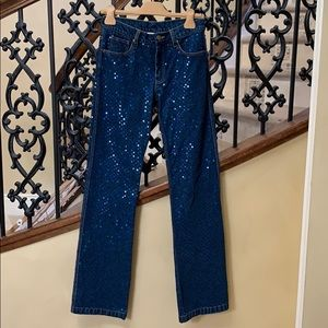 Ashish Blue Jeans with Sequins